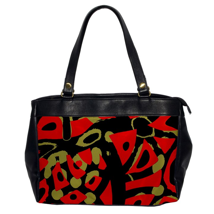 Red artistic design Office Handbags