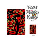 Red artistic design Playing Cards 54 (Mini)  Front - Club4