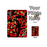 Red artistic design Playing Cards 54 (Mini)  Front - Club10