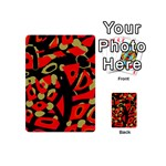 Red artistic design Playing Cards 54 (Mini)  Back