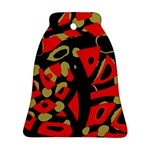 Red artistic design Bell Ornament (2 Sides) Back