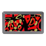 Red artistic design Memory Card Reader (Mini) Front
