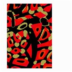 Red artistic design Small Garden Flag (Two Sides) Back