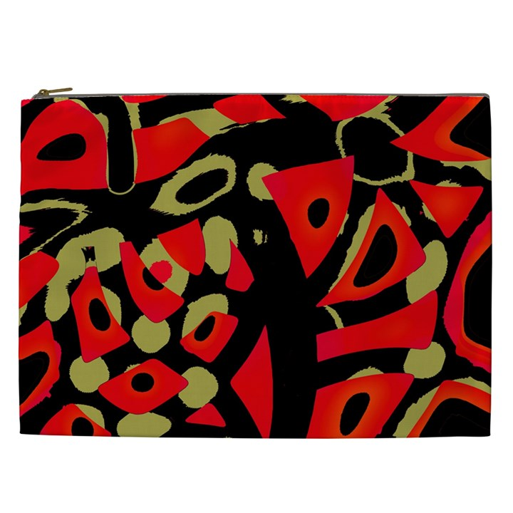Red artistic design Cosmetic Bag (XXL)