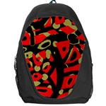 Red artistic design Backpack Bag Front