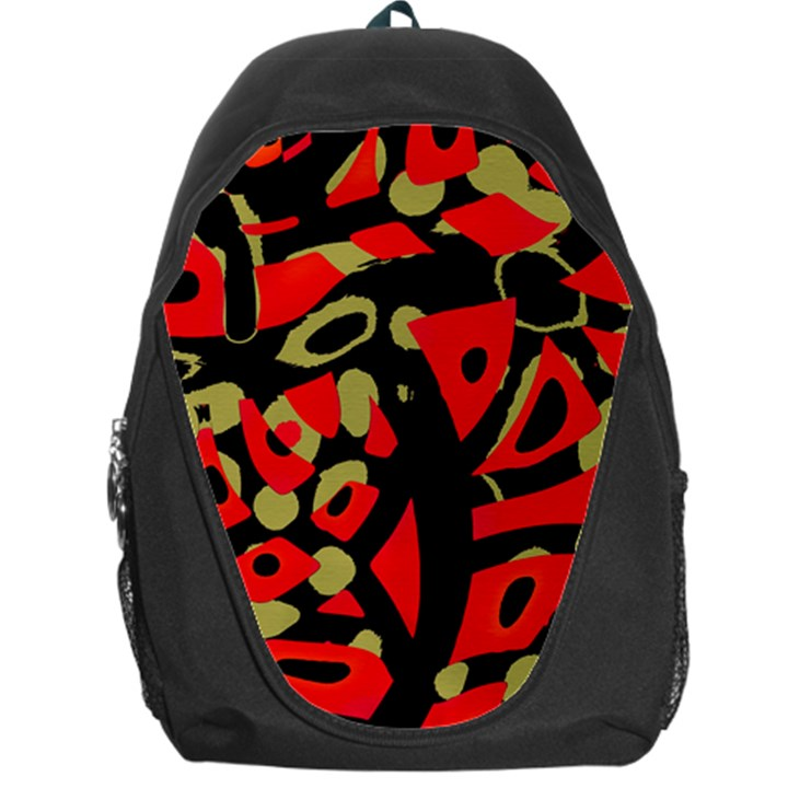 Red artistic design Backpack Bag
