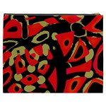 Red artistic design Cosmetic Bag (XXXL)  Back