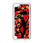 Red artistic design Apple iPod Touch 5 Case (White) Front