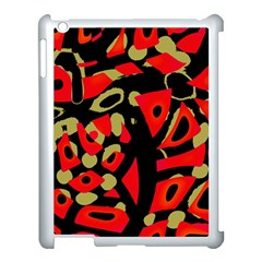 Red Artistic Design Apple Ipad 3/4 Case (white) by Valentinaart