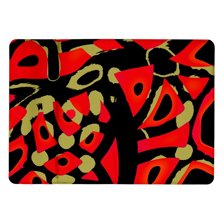 Red artistic design Samsung Galaxy Tab 10.1  P7500 Flip Case