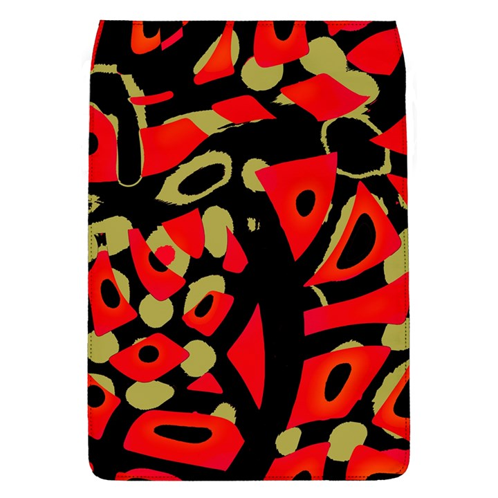 Red artistic design Flap Covers (L)