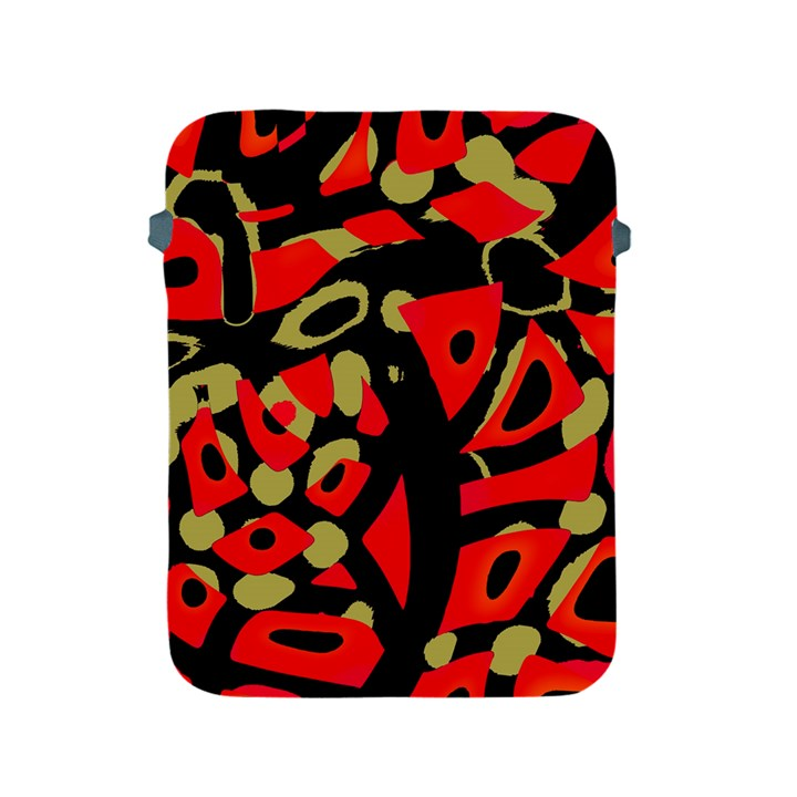 Red artistic design Apple iPad 2/3/4 Protective Soft Cases