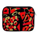 Red artistic design Apple iPad 2/3/4 Zipper Cases Front
