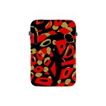 Red artistic design Apple iPad Mini Protective Soft Cases Front
