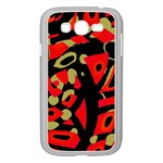 Red artistic design Samsung Galaxy Grand DUOS I9082 Case (White) Front