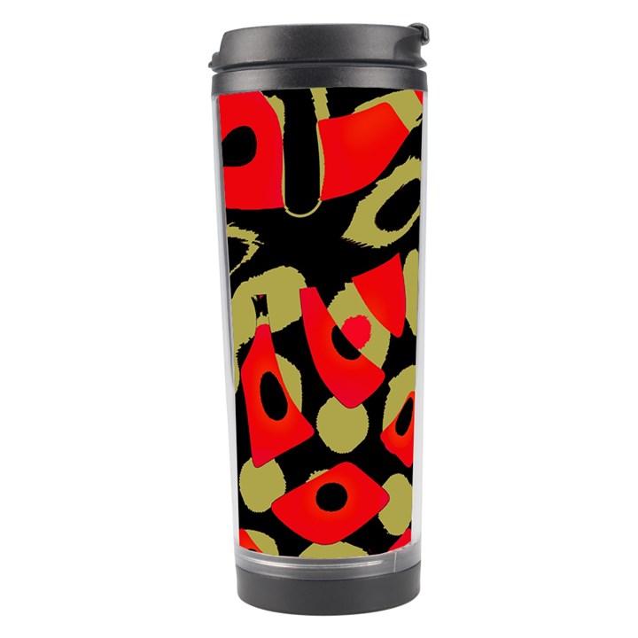 Red artistic design Travel Tumbler