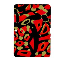 Red Artistic Design Samsung Galaxy Tab 2 (10 1 ) P5100 Hardshell Case