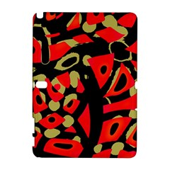 Red Artistic Design Samsung Galaxy Note 10 1 (p600) Hardshell Case