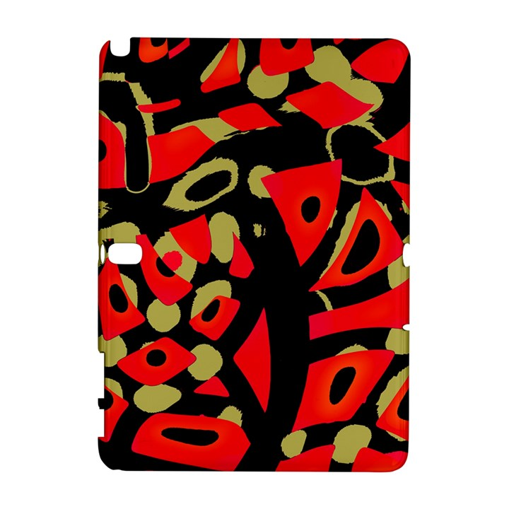 Red artistic design Samsung Galaxy Note 10.1 (P600) Hardshell Case