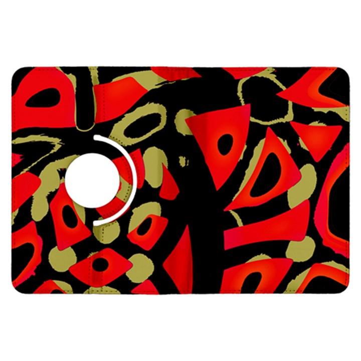 Red artistic design Kindle Fire HDX Flip 360 Case