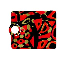 Red artistic design Kindle Fire HDX 8.9  Flip 360 Case