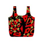 Red artistic design Full Print Recycle Bags (S)  Front