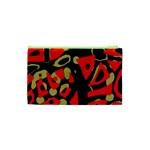 Red artistic design Cosmetic Bag (XS) Back