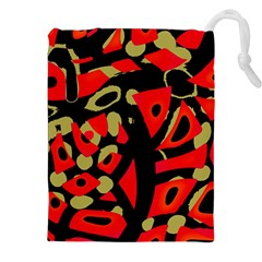 Red Artistic Design Drawstring Pouches (xxl)