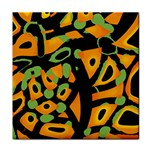 Abstract animal print Tile Coasters Front
