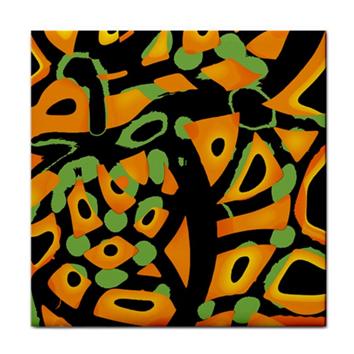 Abstract animal print Tile Coasters