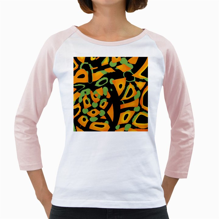 Abstract animal print Girly Raglans