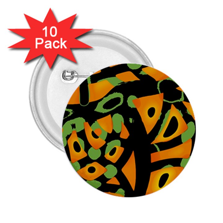 Abstract animal print 2.25  Buttons (10 pack)