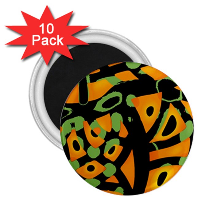 Abstract animal print 2.25  Magnets (10 pack)