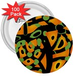 Abstract animal print 3  Buttons (100 pack)  Front