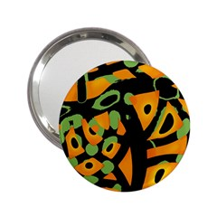 Abstract Animal Print 2 25  Handbag Mirrors by Valentinaart