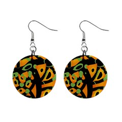 Abstract Animal Print Mini Button Earrings by Valentinaart