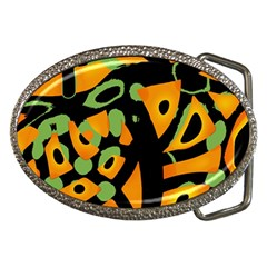 Abstract Animal Print Belt Buckles by Valentinaart