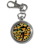 Abstract animal print Key Chain Watches Front