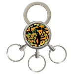 Abstract animal print 3-Ring Key Chains Front