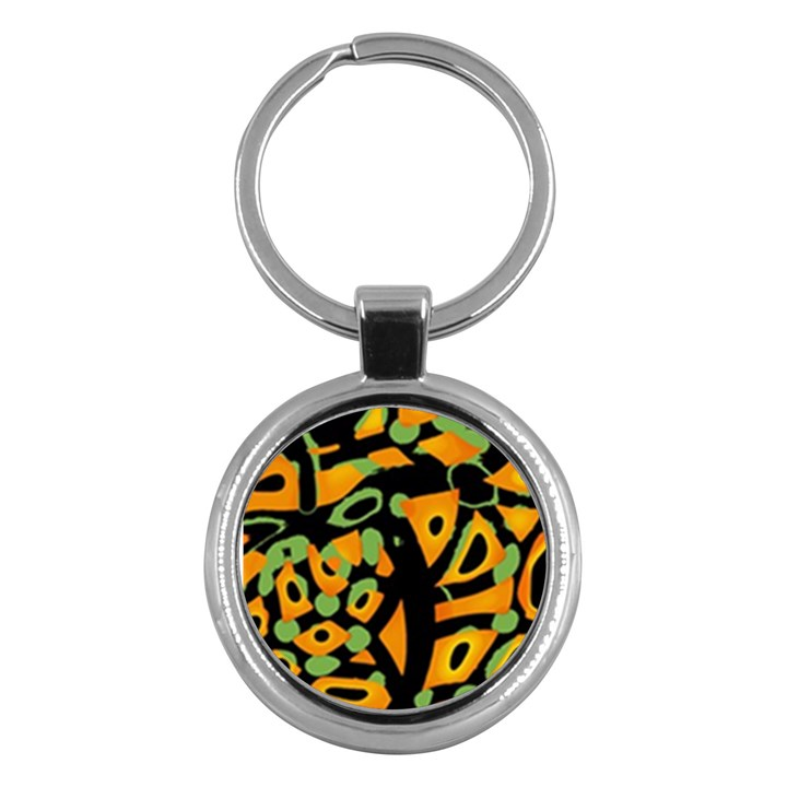 Abstract animal print Key Chains (Round)