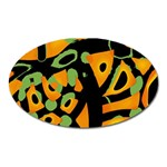 Abstract animal print Oval Magnet Front