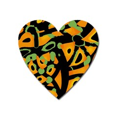 Abstract Animal Print Heart Magnet by Valentinaart