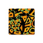 Abstract animal print Square Magnet Front