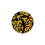 Abstract animal print Golf Ball Marker Front