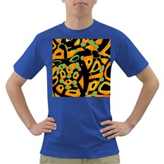 Abstract Animal Print Dark T Shirt