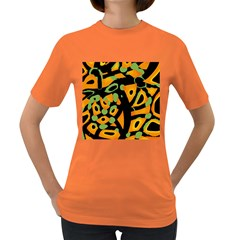 Abstract Animal Print Women s Dark T Shirt