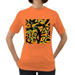 Abstract animal print Women s Dark T-Shirt Front