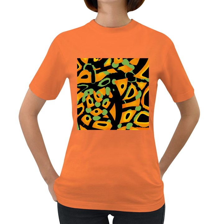 Abstract animal print Women s Dark T-Shirt