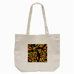 Abstract Animal Print Tote Bag (cream)