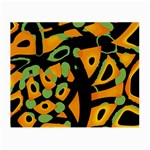 Abstract animal print Small Glasses Cloth Front